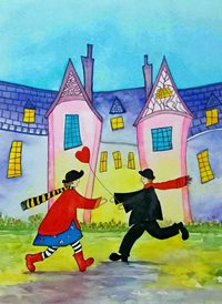 art quirky funny people houses landscapes dad son  granddad  uncle mum daughter Nan aunt friend personalised online greeting card