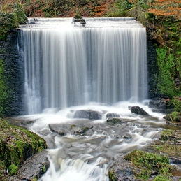 Gary Green Eyes Waterfall in Autumn Photography Waterfall personalised online greeting card