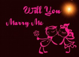 Animal welfare auctions Will you marry me Enagement Romance love marriage  personalised online greeting card