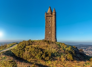 Photography andbc, Scrabo Tower, landscape, scenic, countryside, peaceful, tranquil, Ards, Strangford Lough, Ards Peninsula, Newtownards, National Trust, NT personalised online greeting card