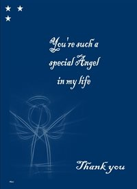 General Angel Quote  personalised online greeting card