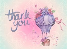 Thank  greeting cards by Frontloader Cards hotair balloon z%a Thank You Card