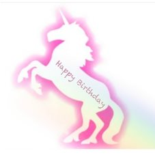 Birthday UNICORN  personalised online greeting card