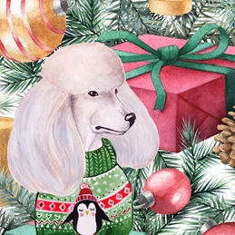 Christmas CHRISTMAS dogs personalised online greeting card