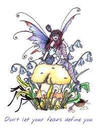 artistic fairy, fantasy, positivity birthday personalised online greeting card