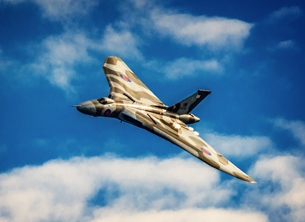 photography birthday, father's-day, for-him,  for-children, Vulcan, RAF, aeroplane, airplane, plane, jet, photograph personalised online greeting card
