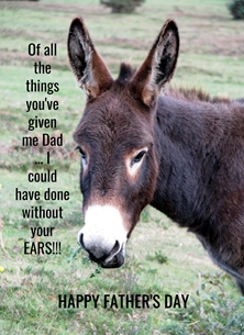 Fathers for-him fathers dad donkeys ears funny humorous personalised online greeting card