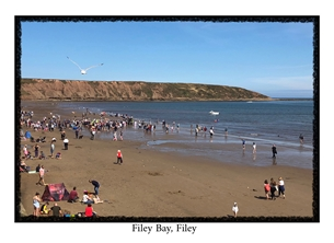 General photography Filey, Yorkshire, Coast, Sands, Vacations, Holidays, North Yorkshire, local interest, photographic, photography  personalised online greeting card