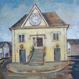 Mary Dodd Art Tetbury Market Hall art Tetbury Market Hall painting fine art personalised online greeting card