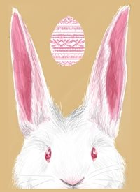 Black Bunny Designs and Greetings Easter Bunny  Easter egg, bunny, rabbit, spring, fun personalised online greeting card