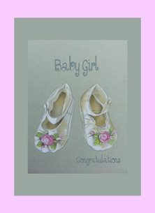 Wildart Baby girl Baby christening personalised online greeting card