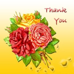 Thanks Rose personalised online greeting card