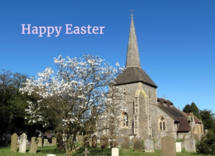 Debbie Daylights Easter Church easter Easter church churches blossom spring Banstead Surrey personalised online greeting card