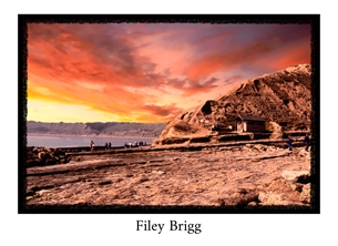 Photography Yorkshire, Yorkshire Coast, Filey, Brigg, Coast, sea, sunset, local interest  personalised online greeting card