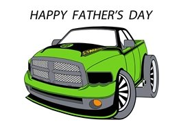 fathers green cars personalised online greeting card