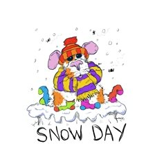 General guinea pig snow cold cute funny animal cartoon  personalised online greeting card