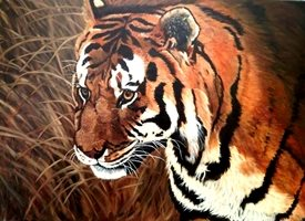 art general  tigers  animals wildlife personalised online greeting card