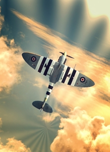 Photography spitfire, RAF, fighter, arroplane, aircraft, airplane, ww2 personalised online greeting card
