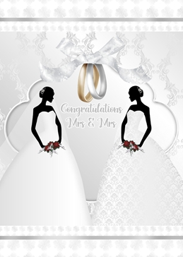 Wedding WEDDING LGBT celebrations personalised online greeting card