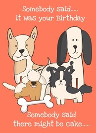 Mum's the Boss Your very best friends Birthday dogs puppies pets puppy cake party animals personalised online greeting card