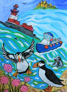 Puffins - Longstone Lighthouse