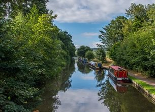 Chappers Photography Riverside Photography river, canal, boat, water personalised online greeting card