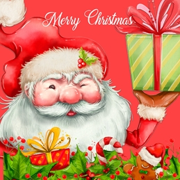 Christmas Santa, Father Christmas, Cute personalised online greeting card