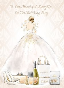 wedding  Daughter, Bride,  personalised online greeting card