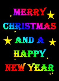 Christmas pride merry  rainbow for-him for-her for-child merry christmas happy new year  personalised online greeting card