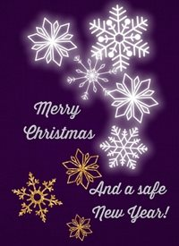 Cape Designs Snowflake Wishes Christmas Snowflake z%a personalised online greeting card