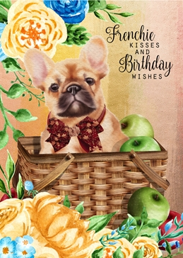Birthday BIRTHDAY dogs FRENCHIES personalised online greeting card