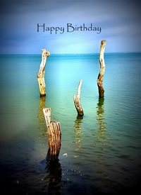 Birthday water peace calm nature beach sea stillness z%a personalised online greeting card