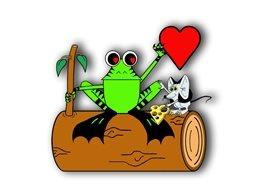 who's your froggie valentine General children heart frog animals log mouse valentine personalised online greeting card