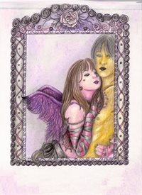 General romantic, angel, fantasy, artistic personalised online greeting card