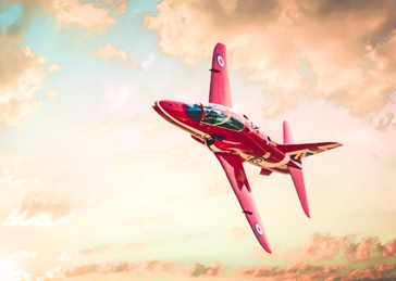 General Fathers, Birthday, red arrow, plane, aeroplane, fighter, aerobatics,  For-him, for-her, blank , greeting, dad, granddad, -children, red, aerospace engineering, airplane, sky, flying, sunset, fighter, landscape, horizontal, color image, air vehicle, aerospace industry, pink color, cloud - sky, leaving, mode of transport, travel, outdoors, atmospheric mood, non-urban scene, day personalised online greeting card