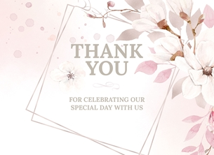 Thankyou Wedding Day Card
