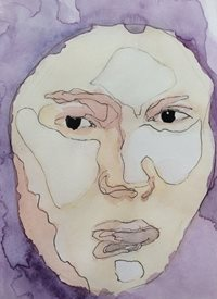 art Contemporary watercolour portrait, z%a personalised online greeting card