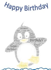 Birthday  penguin  personalised online greeting card