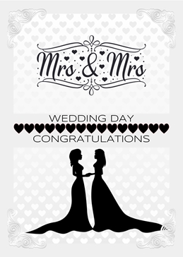 WEDDING LGBT celebration congratulations personalised online greeting card