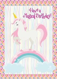 Birthday Children Unicorn,magical personalised online greeting card