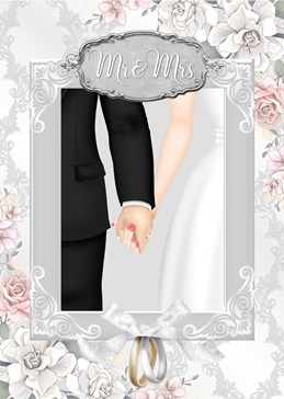Millymoo Wedding Day Card wedding WEDDING celebration  personalised online greeting card