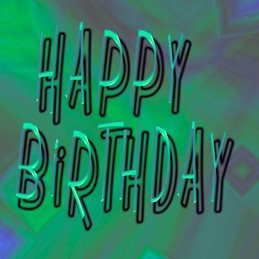 Birthday green, bright, personalised online greeting card