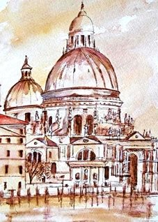 art Venice buildings river for-him for-her personalised online greeting card