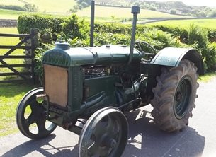 photography fathers tractor, vintage, history, fordson. green, men, farming, countryside,  personalised online greeting card