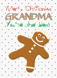 Christmas Grandma cookie Gingerbread z%a personalised online greeting card