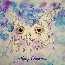 Christmas christmas owl animal winter personalised online greeting card