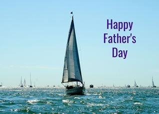 fathers Father sailing boats yachts sea for-him personalised online greeting card