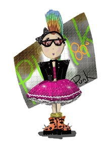 Punk 80s personalised online greeting card