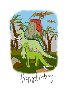 Louise Rarity Dinosaur land Birthday Dinosaur