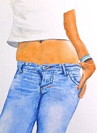 art artwork person clothes for-her for-him personalised online greeting card